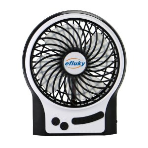 $8.5 Efluky Mini USB 3 Speeds Rechargeable Portable Table Fan