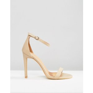 Public Desire | Public Desire Avril Beige Barely There Heeled Sandals
