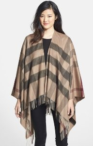 Burberry Check Print Wool & Cashmere Scarf