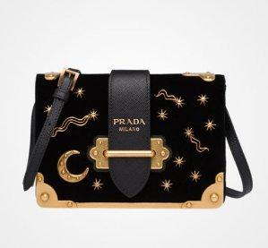 Hot Pick! Prada Small Velvet Astrology Cahier Bag @ Saks Fifth Avenue
