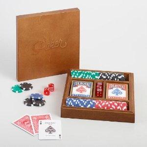 Wood Poker Set | World Market