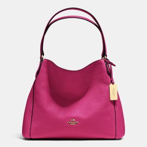 EDIE shoulder bag 31 in refined pebble leather by Coach