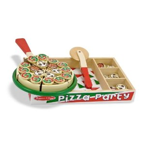 Amazon.com: Melissa & Doug Pizza Party Wooden Play Food Set With 54 Toppings: Melissa & Doug: Toys & Games
