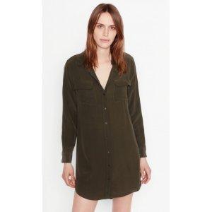 Women's SLIM SIGNATURE SILK DRESS made of Silk | Women's Sale by Equipment