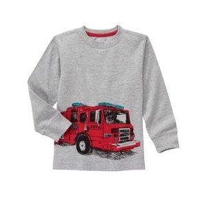 Boys Heather Grey Fire Truck Tee by Gymboree