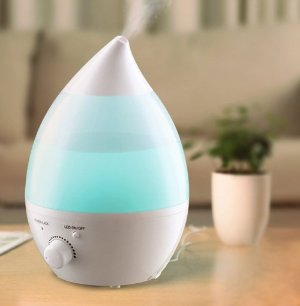 VicTsing 1.3 Litres Cool Mist Ultrasonic Humidifier Teardrop Shape Air Purifier for Home Room Bedroom Office