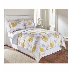 LivingQuarters Reversible Microfiber Down-Alternative Corin Yellow Comforter | Bon-Ton