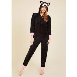 Any Minute Meow One-Piece Pajamas