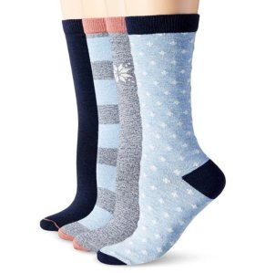 $4.6 Timberland Women's Assorted Crew Boot Sock 4-Pack