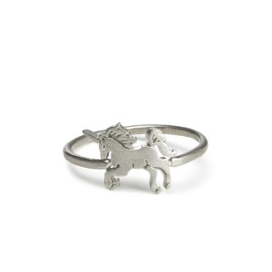 life is magical unicorn ring, sterling silver - Dogeared