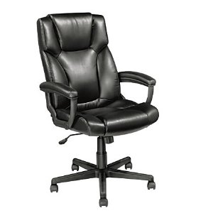 Realspace Breckland High Back Executive Chair Black by Office Depot & OfficeMax