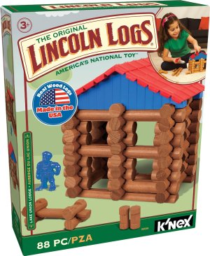 LINCOLN LOGS - Lake Union Lodge - 88 Pieces