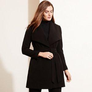 Crepe Open-Front Coat - Jackets & Outerwear � Woman (sizes 14-22) - RalphLauren.com