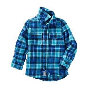 Kid Boy 2-Pocket Flannel Shirt | OshKosh.com