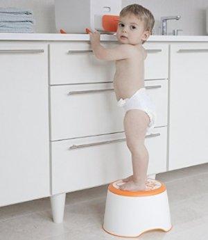 Ubbi Step Stool, Orange