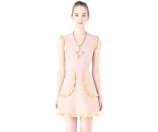 Red Valentino Frill Trim Dress - Tiziana Fausti - Farfetch.com