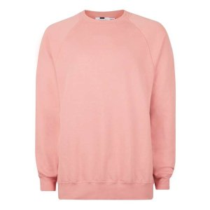 Pink Side Panelled Oversized Sweatshirt - Men's Hoodies & Sweatshirts - Clothing - TOPMAN USA