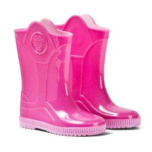 Ju Ju Pink Glitter Wellies | AlexandAlexa