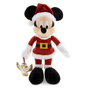 Santa Mickey Mouse Plush with Owl - Medium - 15'' | Disney Store