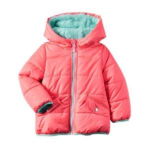 Baby Girl Neon Puffer Jacket   Carters.com