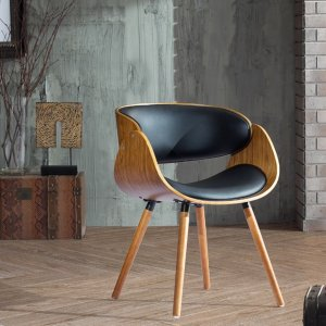 Corvus Walnut and Black Mid Century Bentwood Accent Chair - 17792927 - Overstock.com Shopping - Great Deals on Corvus Living Room Chairs