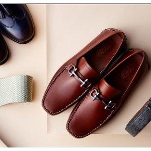 Salvatore Ferragamo Grandioso Bit Leather Loafers