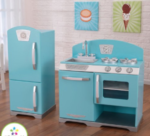 KidKraft 2-Piece Retro Kitchen, Blue @ Amazon