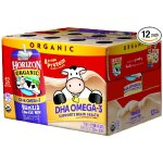 Horizon Organic Low Fat Organic Milk Box Plus DHA Omega-3, Vanilla, 8 Ounce (Pack of 12)