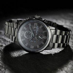 £124.58 暗黑神秘Citizen 夜鹰系列 CA0295-58E 男士光动能腕表