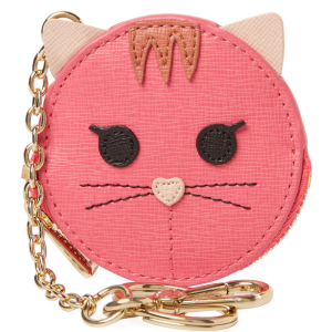 Allegra Cat Leather Key Pouch by Furla