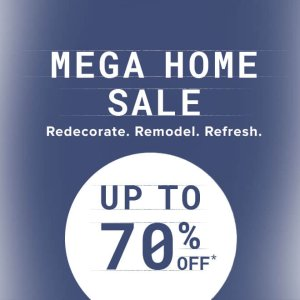Up to 70% off Mega home goods sale @ Overstock