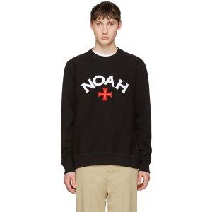 Noah: Black Varsity Logo Sweatshirt