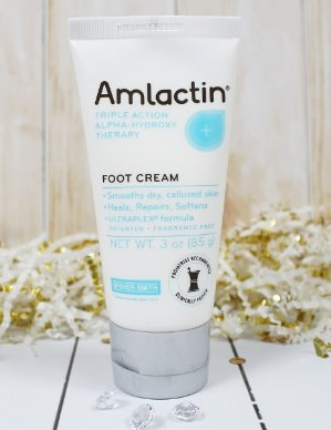 $4.71 AmLactin Alpha-Hydroxy Therapy Foot Cream to Heal, Repair, Soften Dry, Callused Skin on Feet, Heels Podiatrist Approved 3 Ounce