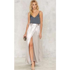 Breakthrough Satin Slit Skirt