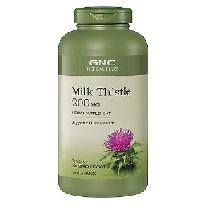GNC Herbal Plus Milk Thistle 200 MG 300 Capsules