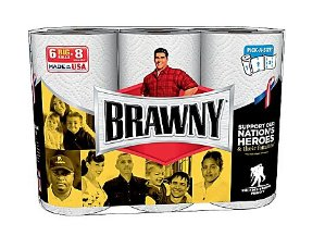 $22.99Brawny® 6 Big Pick-A-Size Paper Towel Rolls, 2-Ply, 6 Rolls/Pack, 24 Rolls/Case