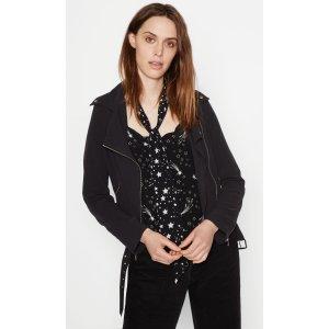 Women's KATE MOSS ROXANA MOTO SILK JACKET made of Silk | Women's Kate Moss by Equipment
