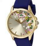 Juicy Couture Women's 'Jetsetter' Quartz Gold-Tone and Silicone Watch