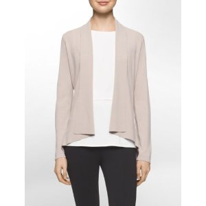 modified shawl collar open-front cardigan | Calvin Klein