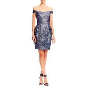 Sparkle Dot Off The Shoulder Dress