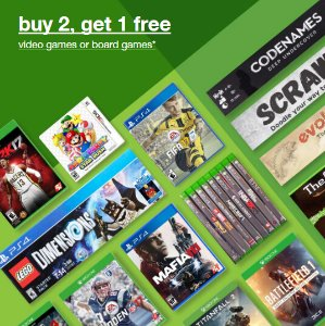 Buy Two Get One Free Video Games & Board Games @ Target