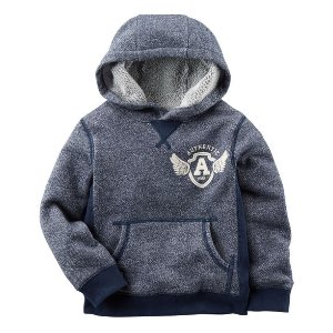 Kid Boy Hooded Marled French Terry Pullover | Carters.com