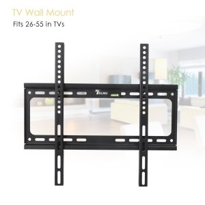 Telmu TV Wall Mount TV Bracket Stand with Shelf for 26-55
