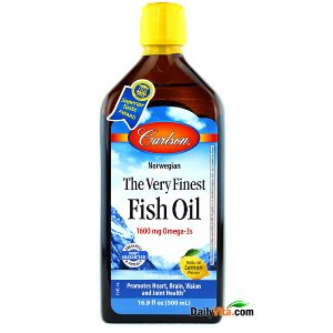 Carlson Very Finest Fish Oil Omega-3 EPA&DHA Lemon Flavor - 500ml