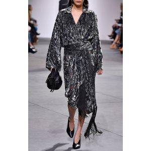 Velvet Wrap Dress by Michael Kors Collection