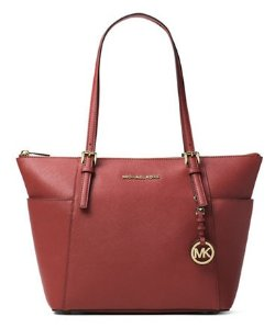 MICHAEL Michael Kors Jet Set Leather Tote @Lord & Taylor