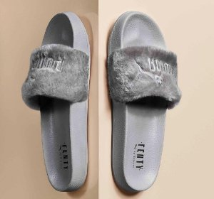 $80 FUR SLIDE BY FENTY WOMEN'S SANDALS @ PUMA