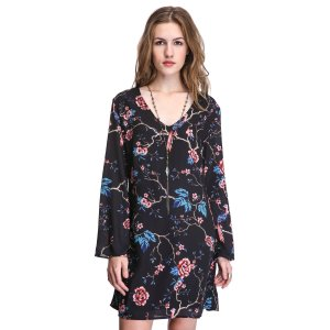 Two Arrows Birds & Floral Print Swing Dress | South Moon Under