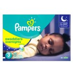 Pampers Swaddlers Overnights Diapers Size 3, 72 Count