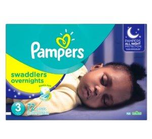 $16.43Pampers Swaddlers 夜用版婴儿纸尿裤3段-72片